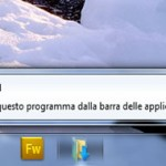 Cartella nella taskbar
